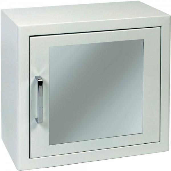 DF AED Universal Metall Wandschrank, weiß mit Magnetverschluss
